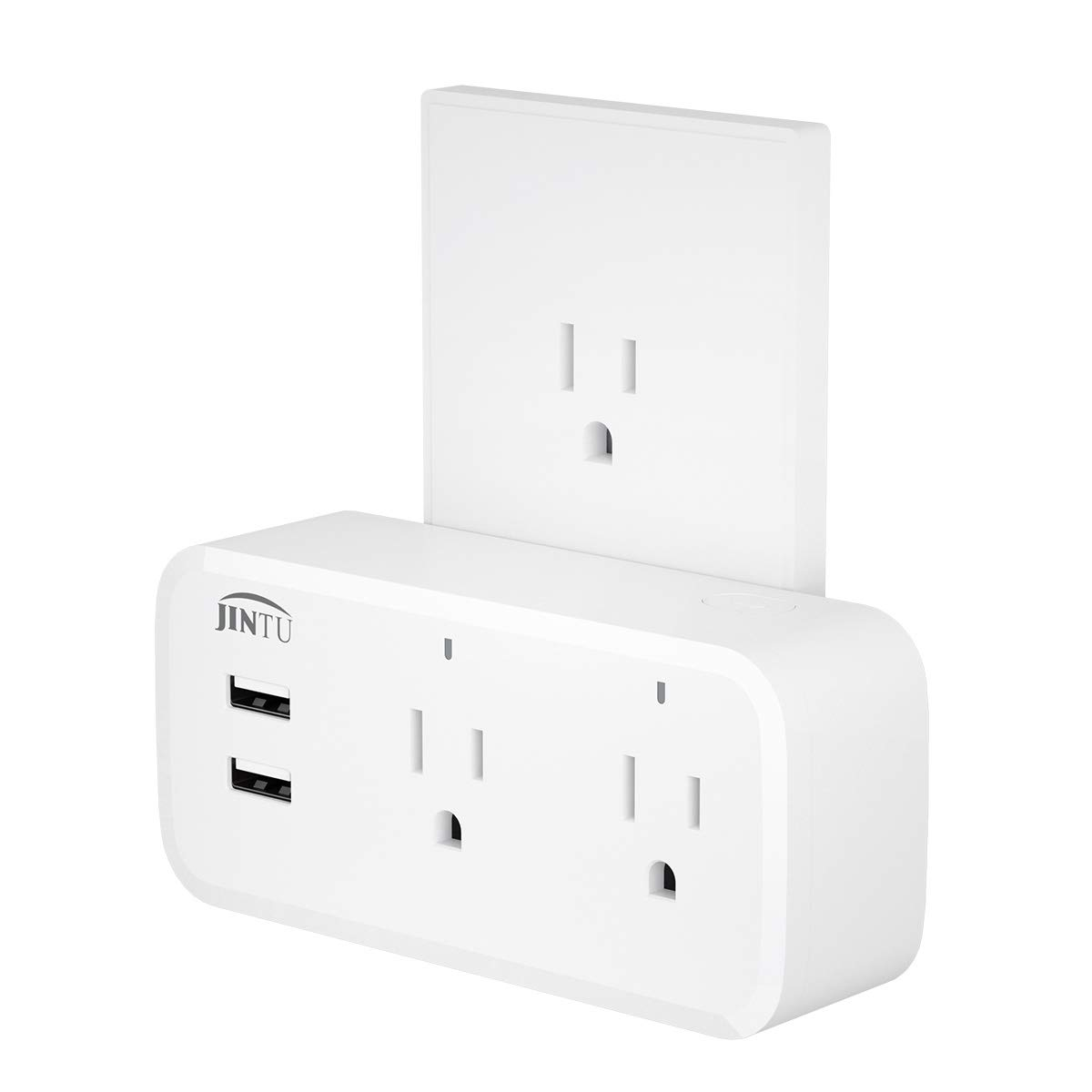 Smart Plug,Smart Outlet Home Wifi Dual Two USB Plug Compatible with Alexa, Google, IFTTT for Smartphone, Voice Control, Remote Control,No Hub Required,Overload Protection
