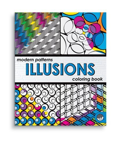 Modern Patterns Illusions Coloring Book by (January 1, 2008) Paperback