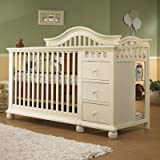 Bundle-94 Cape Cod 4-in-1 Convertible Crib N Changer Combo in French White (Set of 2) Finish: French White
