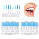Dental Floss Toothpicks, 80pcs Disposable Toothpicks Professional Interdental Cleaners Tooth Cleaning Oral Care Tool
