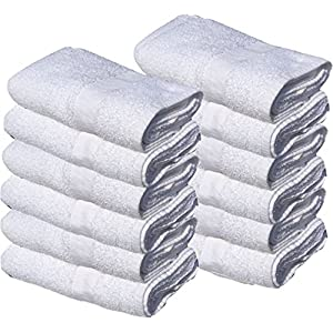 (5 Dozen) 60 PCS NEW WHITE 20X40 100% COTTON ECONOMY BATH TOWELS SOFT & QUICK DRY