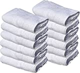 12 NEW WHITE 22X44 100% COTTON ECONOMY BATH TOWELS