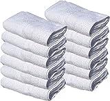 GOLD TEXTILES 24 New White 22X44 100% Cotton Economy Bath Towels (24)
