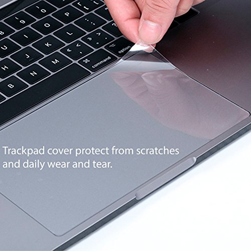 Homy Compatible Full Protection Kit for MacBook Pro 13 inch 2016, 2017, 2018 Keyboard Cover - Touch Bar Protector, Trackpad Protector, Webcam Anti-Spy Cover & Dust Plugs Port Protect A1706/A1989/A1708 by Homy international (Image #4)