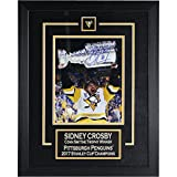 Sidney Crosby 2017 Stanley Cup Champions Signed Raising Cup 8 Inches by 10 inches Photo Collage W/ Etched Mat Frameworth Authenticated 87-738