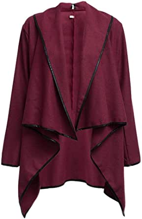 Female slinky coat red