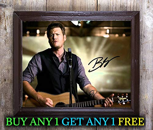 Blake Shelton The Voice Autographed Signed 8x10 Photo Reprint #42 Special Unique Gifts Ideas Him Her Best Friends Birthday Christmas Xmas Valentines Anniversary Fathers Mothers Day