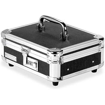 Amazon Com Vaultz Locking Mini Cash Box With Tray 8 5 X 2 75 X