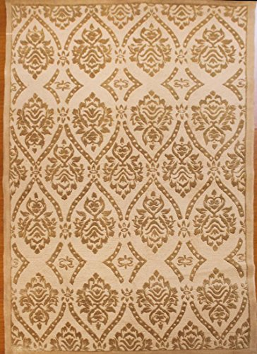 5' x 8' Tibetan Hand Knotted Wool and Silk Tibet Rug QH-1650A ()