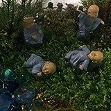 Funshowcase Monk Zen Garden Miniature 4 in Set, Blue
