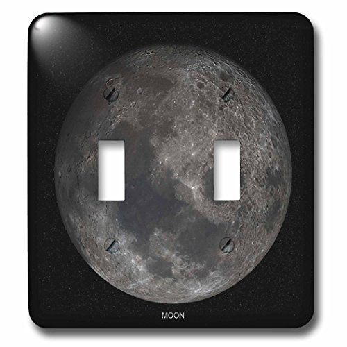 3dRose lsp_76838_2 Solar System Moon Double Toggle Switch by 3dRose