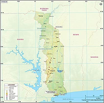Amazon.com : Togo Map (36\