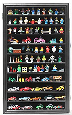 Lego Minifigures Miniature Figures Display Case Wall Curio Cabinet