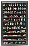 Minifigures Miniature Action Figures Display Case Wall Cabinet, LGHW11-BL