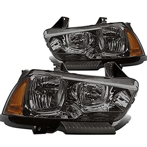 DNA MOTORING HL-OH-CHA11-SM-AM Headlight Assembly, Driver and Passenger Side - Dodge Van Headlight Assembly