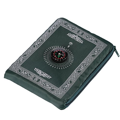 Praying Rug,Hitopin Travel Prayer Mat with Compass Pocket Sized Carry Bag and Attached Compass Praying Rug Portable Nylon Waterproof Easy Praying Mat 60*100cm - Prayer Carpet