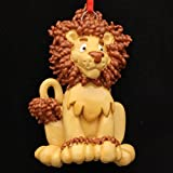 Lion Personalized Christmas Tree Ornament
