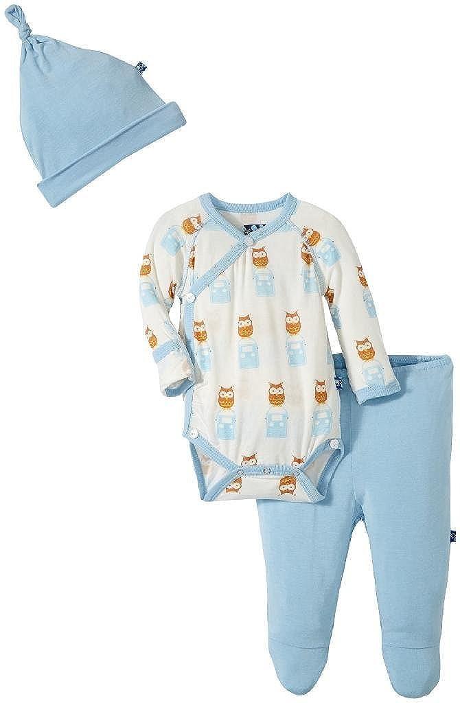 Bodysuits Kickee Pants Baby Boys Kimono Newborn Set W/Elephant Gift Box Prd-kpkgs152s16d1-nro