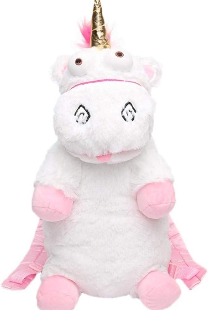VICTOELarge - Mochila para niños, diseño de Unicornio, Blanco (Blanco) - VICTOE-8640
