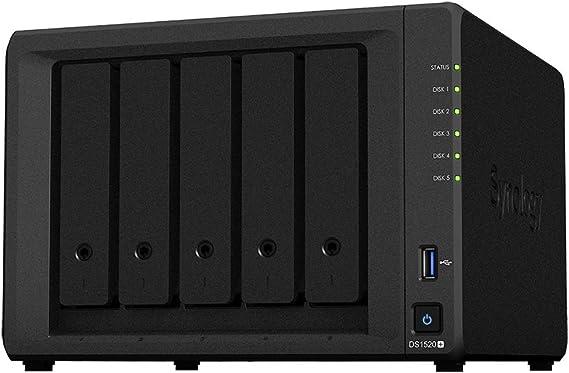 Synology Diskstation Ds1520 5 Bay Desktop Nas Enclosure