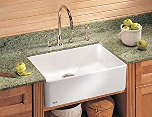 franke mhk110 28wh manor house drop in farmhouse fireclay kitchen sink white single bowl. Black Bedroom Furniture Sets. Home Design Ideas