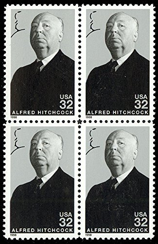 Alfred Hitchcock Legends Of Hollywood #3226 Plate Block of 4 x 32¢ US Postage Stamps