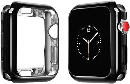 top4cus Environmental Soft Flexible TPU Anti-Scratch Lightweight Protective 38mm Iwatch Case Compatible Apple Watch Series 5 Series 4 Series 3 Series ...
