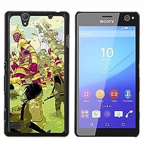 """For Sony Xperia C4 Case , Criaturas mística tierra de cuento de hadas"""" - Diseño Patrón Teléfono Caso Cubierta Case Bumper Duro Protección Case Cover Funda"""