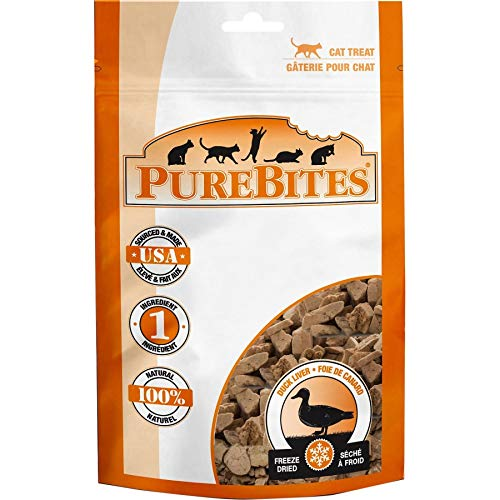 PureBites Duck Liver Freeze Dried Cat Treats (100 Pack)