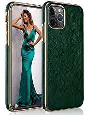 LOHASIC iPhone 11 Pro Max Case, Premium Leather Luxury Slim Soft Flexible Bumper Non-Slip Grip Shockproof Anti-Scratch Protective Cover Cases for Apple iPhone 11 Pro Max 6.5 inch (2019) - Forest Green