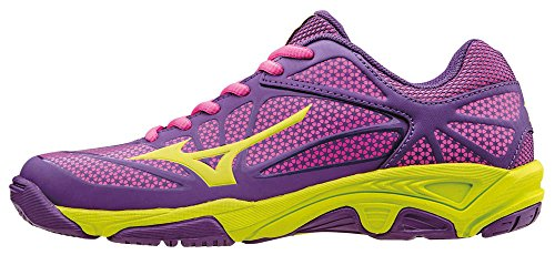 Chaussures de Viola Star Enfant Electric Mizuno Limepunch JNR Tennis Exceed Mixte Pansy qxtwH1
