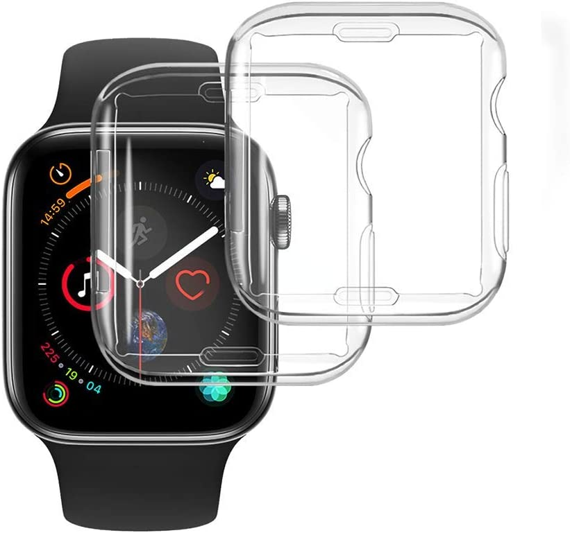 [2-Pack] NotoCity Compatible Apple Watch Case Series 6/Series 5 40mm Screen Protector, Overall Protective Soft Case TPU HD Clear Ultra-Thin Cover Compatible Apple Watch Series 6/5/4(Clear 40mm)