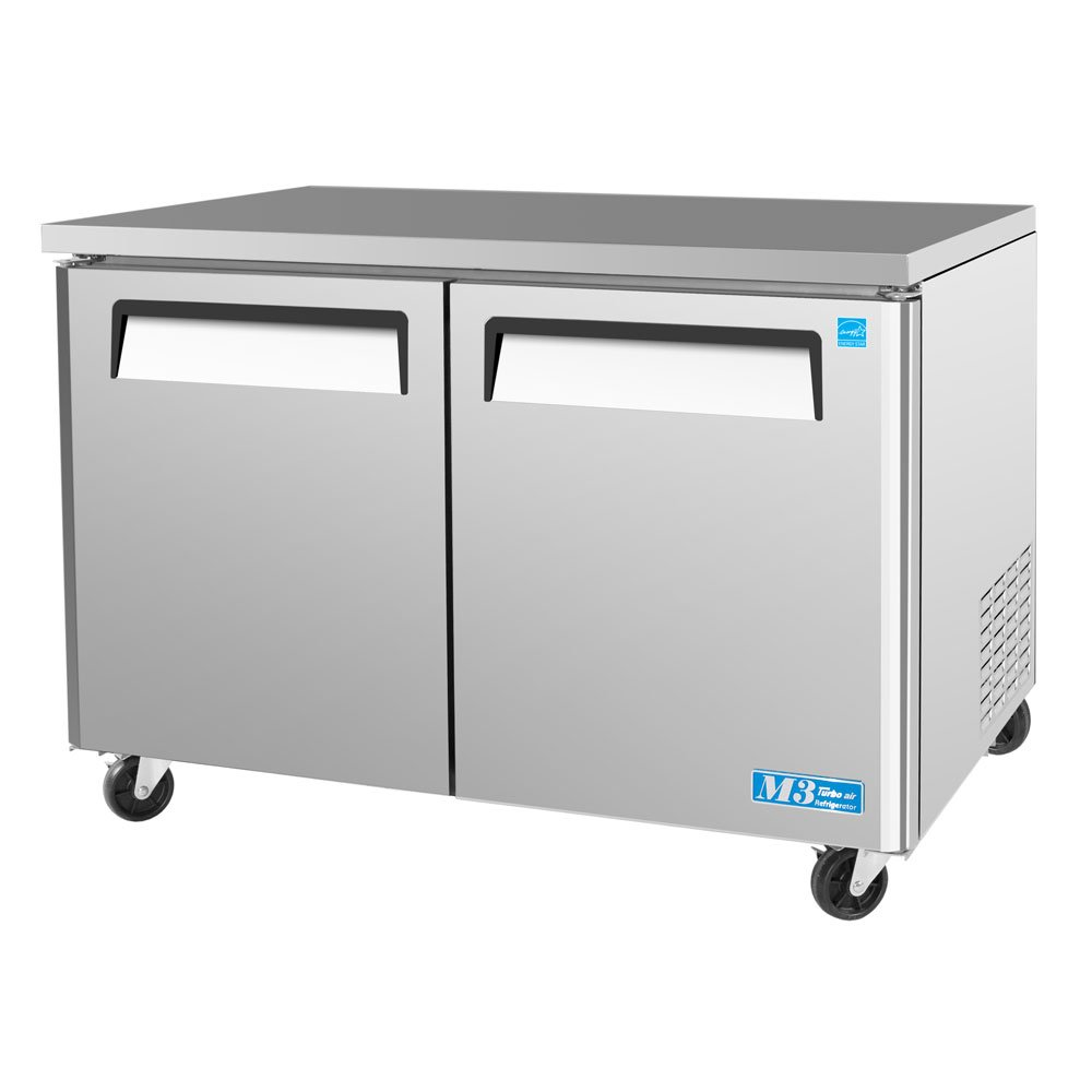 MUR48 12 cu. ft. M3 Series Undercounter Refrigerator with Efficient Refrigeration System Hot Gas Condensate System High Density PU Insulation and PE Coated Adjustable Shelves: Stainless Steel