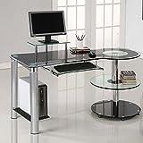Innovex Orbit Desk, Black/Chrome For Sale