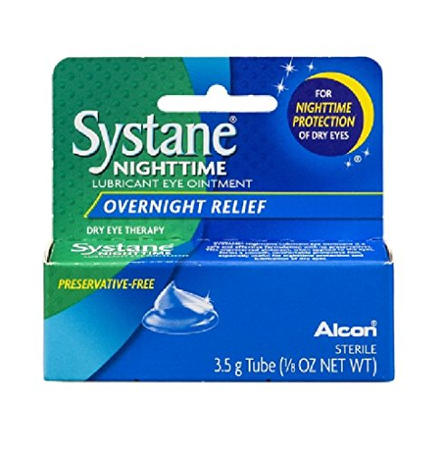 PACK OF 3 - Systane Nighttime Lubricant Eye Ointment Overnight Relief, 0.125 ()