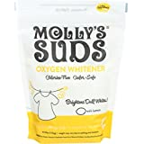 Molly's Suds Oxygen Whitener - Natural, Brightens Dull Whites, Hard Water, Free of Bleach. Pure Lemon Essential Oil.