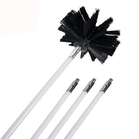 ETbotu - Cepillo de limpieza de nailon, mango largo, herramienta de limpieza para limpieza