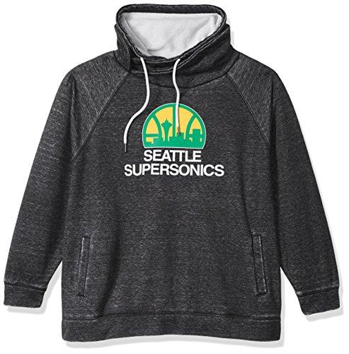 Touch by Alyssa Milano NBA Seattle Supersonics Spiral Sweatshirt Plus, 3X, Charcoal ()