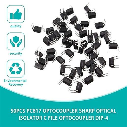 50pcs Pc817 Optocoupler Sharp Optical Isolator C File Optocoupler Dip-4 Rodalind