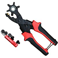 Belt punching pliers Revolving Leather Hole Punch Pliers Puncher Leather Cut Belt Eyelet 6 Sizes