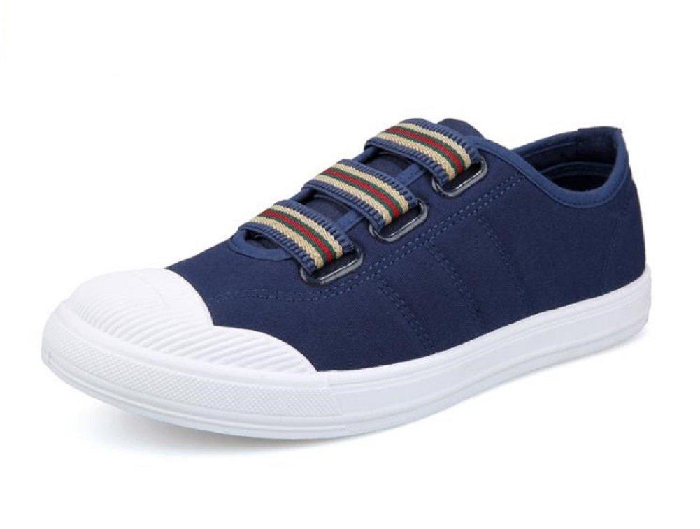 Kuro&Ardor Boat Shoes for Men Sneakers Deck Shoes Canvas Fat Fashion Cool Lightweight boy (8.5 D (M) US 26.5, Navy Blue)