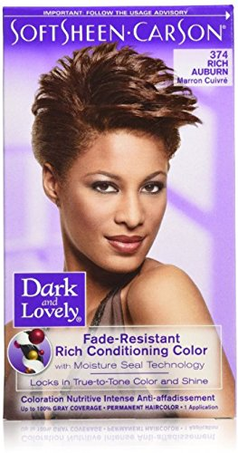 Dark and Lovely Fade Resistant Rich Conditioning Color, No. 374, Rich Auburn, 1 ea