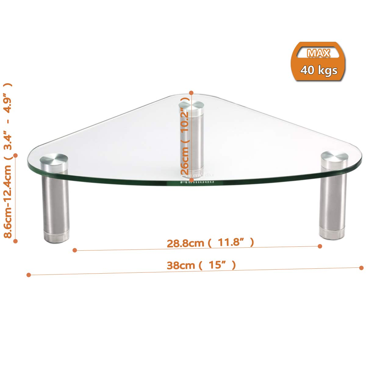 Computer Monitor Stand Riser Laptop,HD01T-003P Triangle Save Space Desktop Corner Stand for Computer