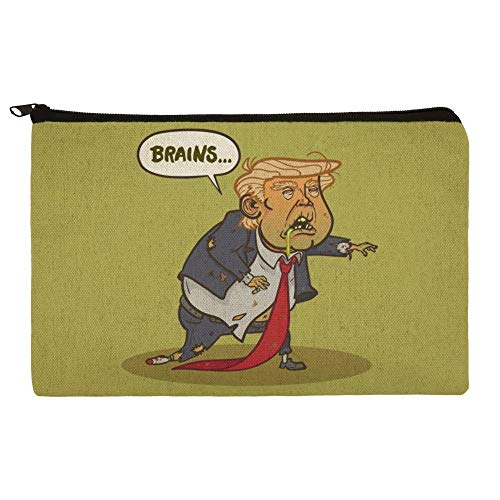 Donald Trump Undead Zombie Halloween Funny Makeup Cosmetic Bag Organizer Pouch]()