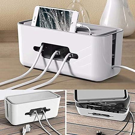Domeilleur Caja organizadora para Guardar Cables de alimentación ...