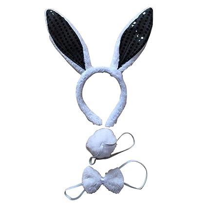 STOBOK Diadema Animal niño Traje de Conejo Orejas de ...
