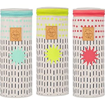 Dots /& Strokes lime L/ÄSSIG Baby Flaschenw/ärmer Isoliert Wickelaccessoire Babyflasche Muttermilch unterwegs//Casual Bottle Holder
