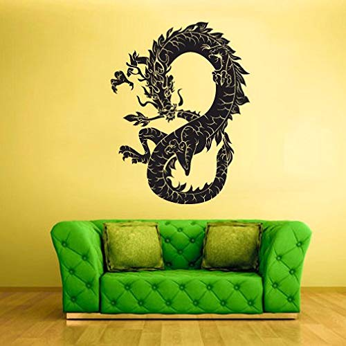 Home Decor-Wall Vinyl Decal Sticker Bedroom Decal Dragon Ethnic Chineese Symbol -