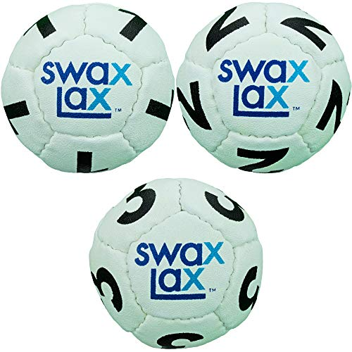 SWAX LAX (3-Pack Soft Weighted Lacrosse Numbered Goalie Training Ball Goalie (White)
