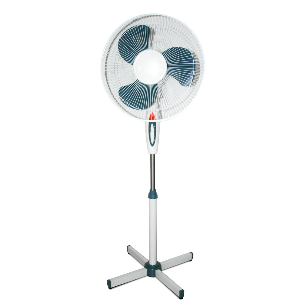 Floorstanding FAN, Chrome_Parent column 45W Adjustable 3–Gang Summerhouse in 2610 Daylight 40 W